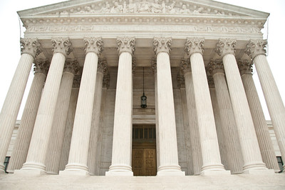 Portico of the Supreme Court Building.