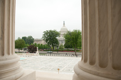 View of the capitol from the SC building.