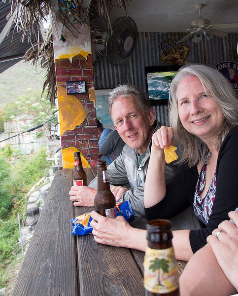 Dan & Elaine @ the Cowboy Bar<br /> <br /> Whistling Cay<br /> St. John, USVI<br /> March 2013
