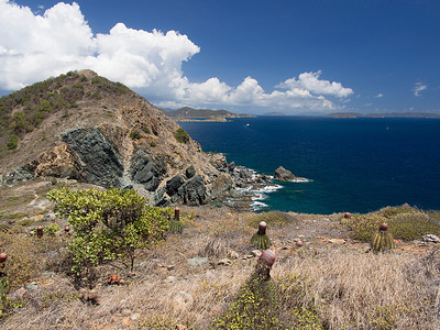 looking toward Drunk Bay from Ram Head Point  St. John, USVI March 2013