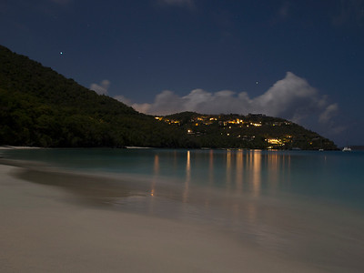 Cinnamon Bay by night  St. John, USVI March 2013