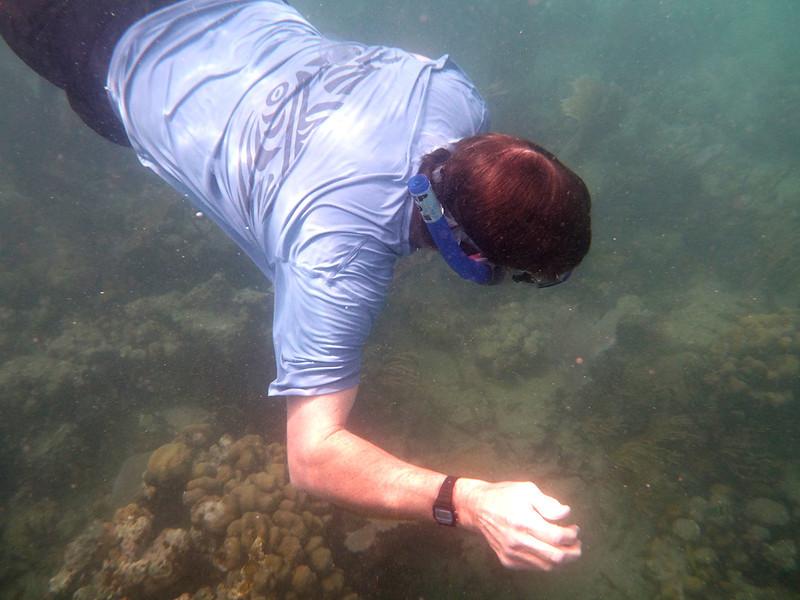 Joe, snorkeling<br /> <br /> Francis Bay<br /> St. John, USVI<br /> March 2013