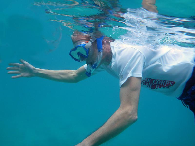 Dan, snorkeling<br /> <br /> Cinnamon Bay<br /> St. John, USVI<br /> March 2013