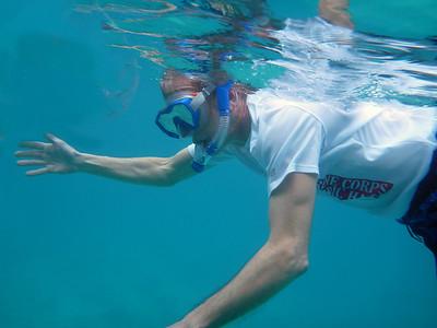 Dan, snorkeling  Cinnamon Bay St. John, USVI March 2013