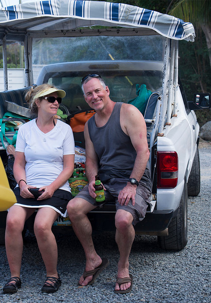 Krisa, Eric and our rental vehicle<br /> <br /> St. John, USVI<br /> March 2013