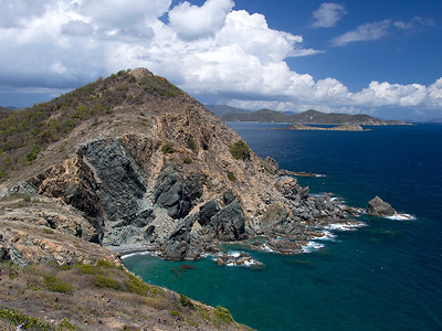 from Ram Head Point, looking toward Drunk Bay  St. John, USVI March 2013
