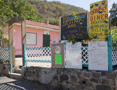 The Donkey Diner  Coral Bay St. John, USVI March 2013