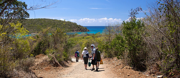the hike into Salt Pond  St. John, USVI March 2013