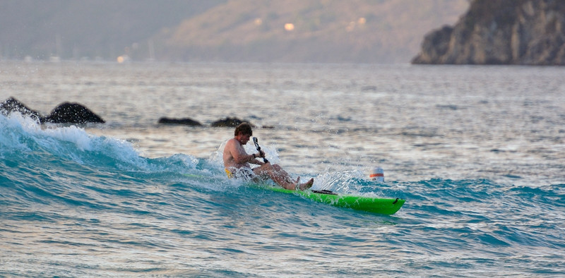Joe, surfing<br /> Cinnamon Cay<br /> <br /> St. John, USVI<br /> March 2013