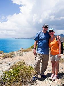 Joe & Nancy atop Ram Head Point  St. John, USVI March 2013