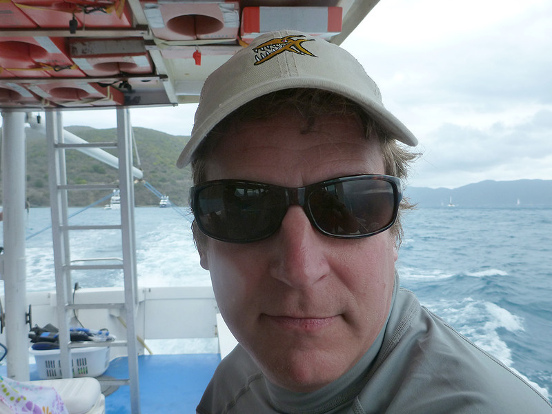 pulling into Jost Van Dyke<br /> <br /> March 2013