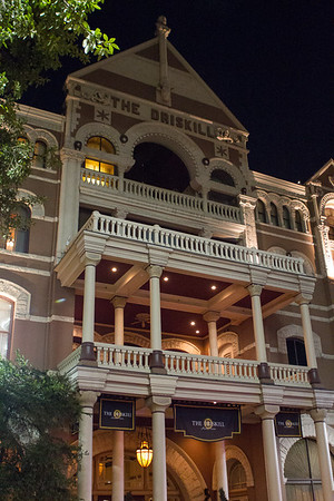 The Driskill Hotel's South face.