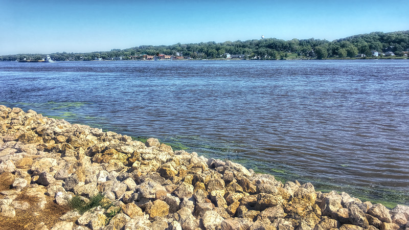 Looking across the Mississippi toward Port Byron