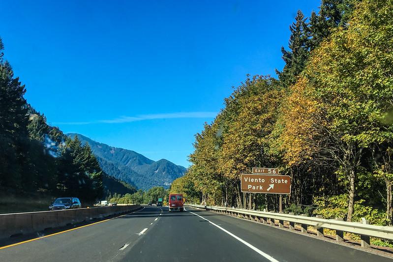 I-84 through the Columbia Gorge, Oregon