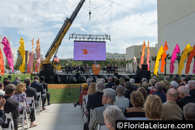 Dr. Phillips Center for the Performing Arts Breaks Ground on Highly Anticipated Steinmetz Hall and The Green Room, Orlando, 6th March 2017 (Photographer: Nigel G Worrall)