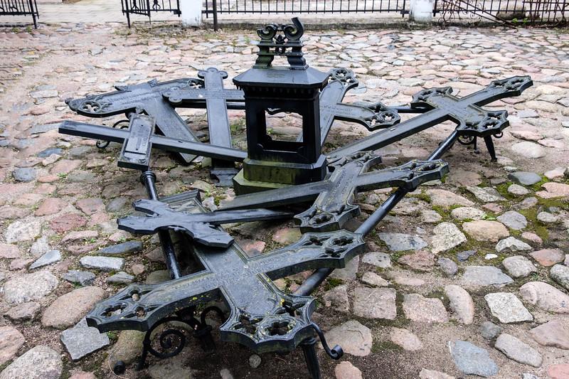 Iron Crosses outside the Blacksmith Museum