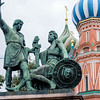 Statue and part of St Basil's Cathedral