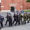 Guard shift change in the Kremlin Grounds
