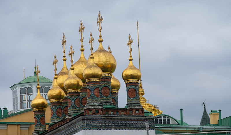 """Some of many """"Onion Domes"""" seen on Russian churches"""