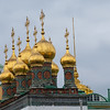 "Some of many ""Onion Domes"" seen on Russian churches"