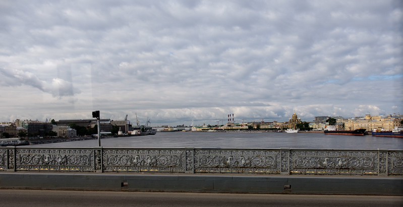View crossing the river Neva