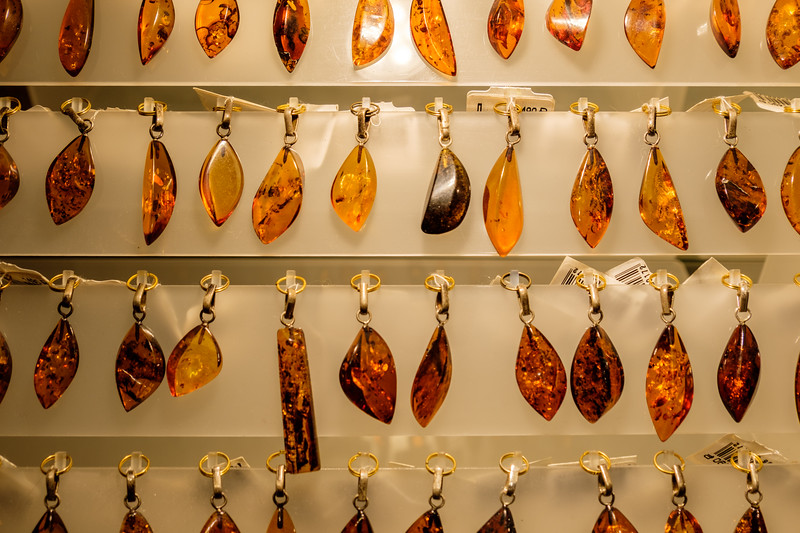 Amber seen in upscale Amber Shop
