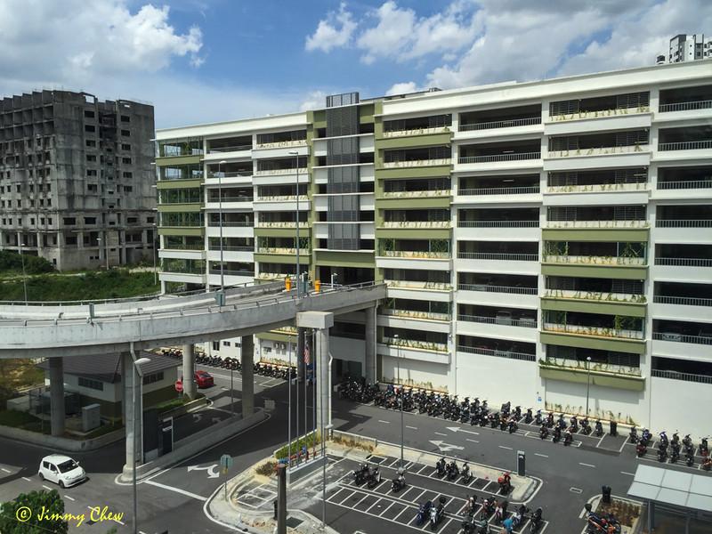 Parking complex at Sungai Buloh station.