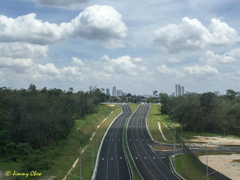 Midway between Kwasa Damansara and Kwasa Sentral.