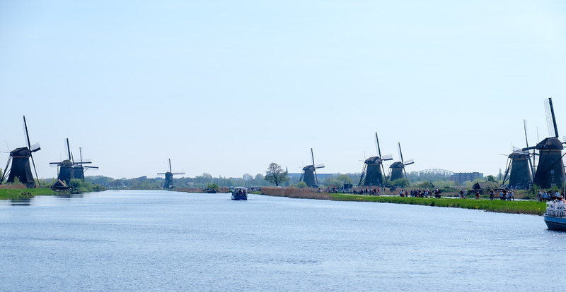 A view of most of the 19 windmills in this area