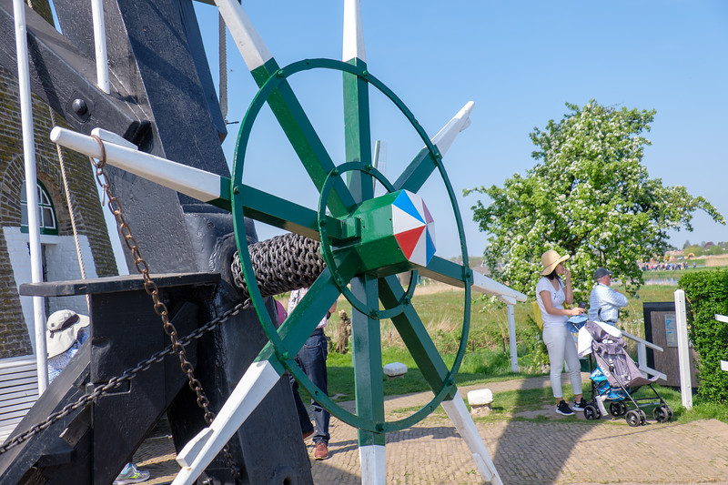 The Miller used this wheel to move the windmill blades.