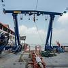 Triplex crane