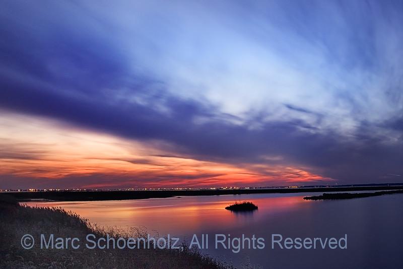 Sunset, Magic, Brigantine II, Photographed at: Edwin B. Forythe NWP (Brigantine), Brigantine, NJ. November, 2006  ©2007 Marc Schoenholz