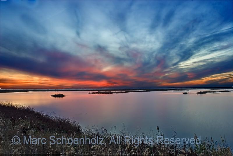 Sunset, Magic, Brigantine I, Photographed at: Edwin B. Forythe NWP (Brigantine), Brigantine, NJ. November, 2006  ©2007 Marc Schoenholz