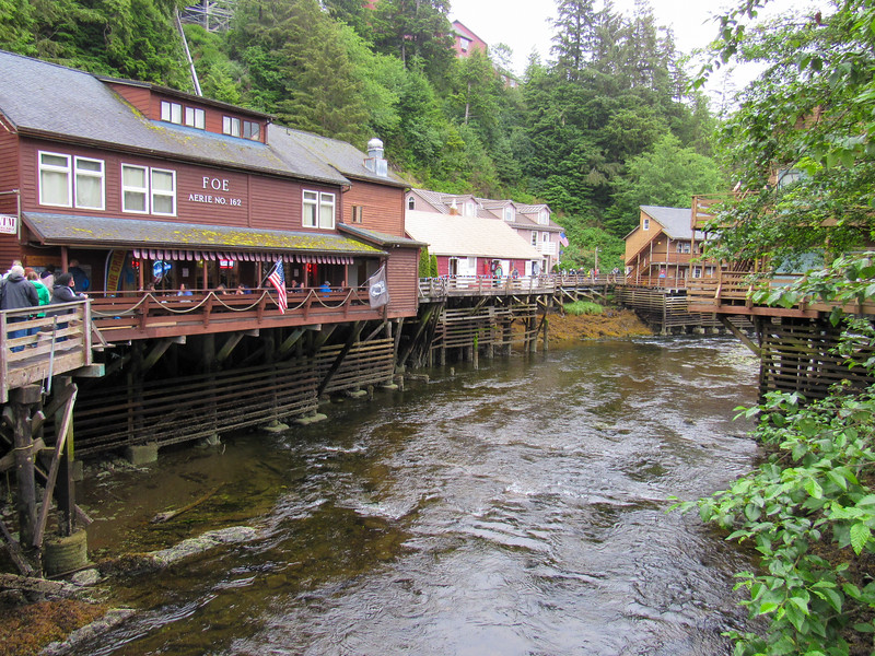 Historic businesses along salmon creek
