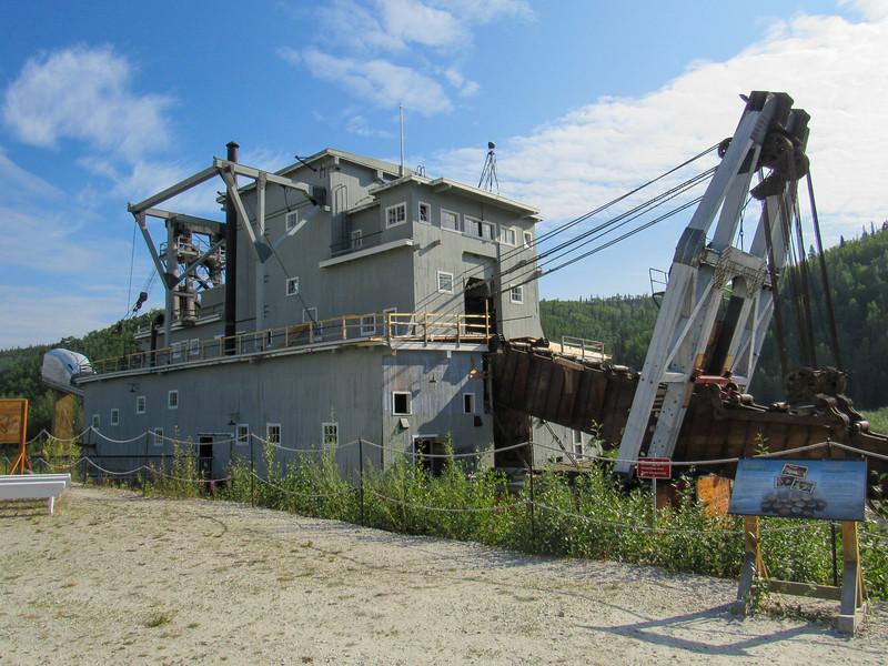 Commercial dredging for gold