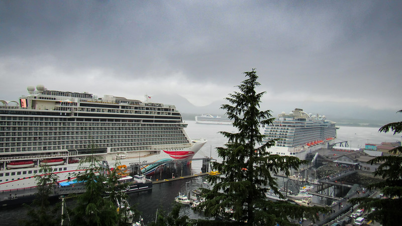 Ketchikan harbor filled with ships