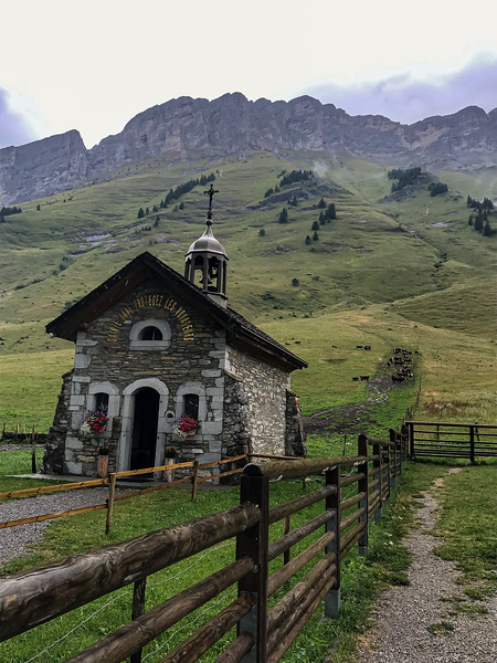 Small chapel on road to Chamonix, France