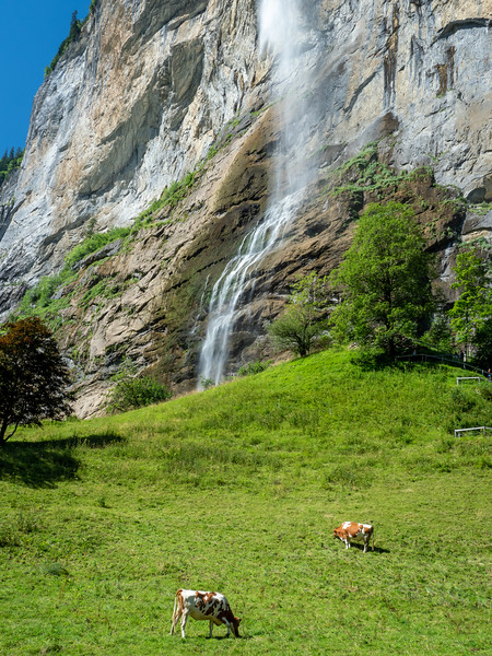 Lauterbrunnen Valley waterfall