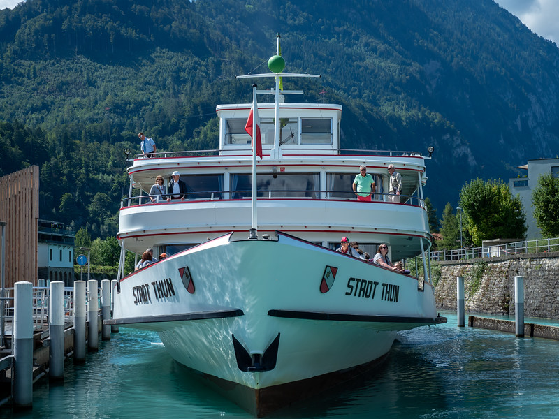 Passenger boat on Lake Thun