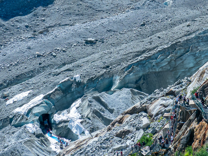Grotte de Glace--Ice cave at La Mer de Glace near Chamonix