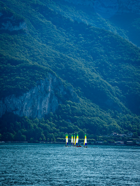 Sailboats on Lac d'Annecy