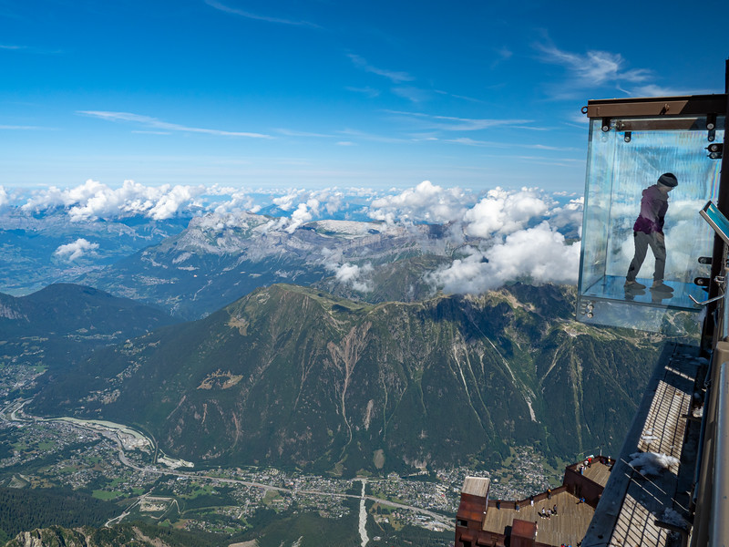 Observation area on Mount Blanc