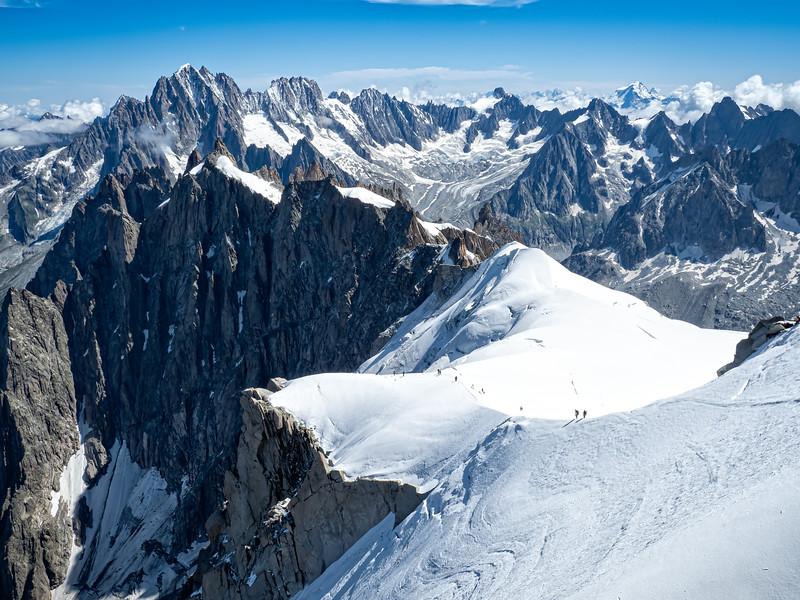 Climbers on Mount Blanc