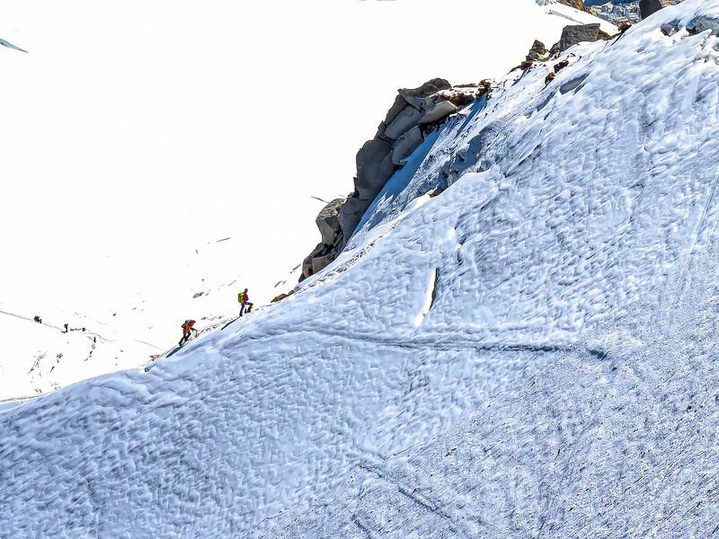 Mount Blanc climbers