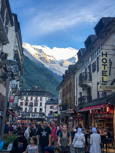 Rush hour in Chamonix