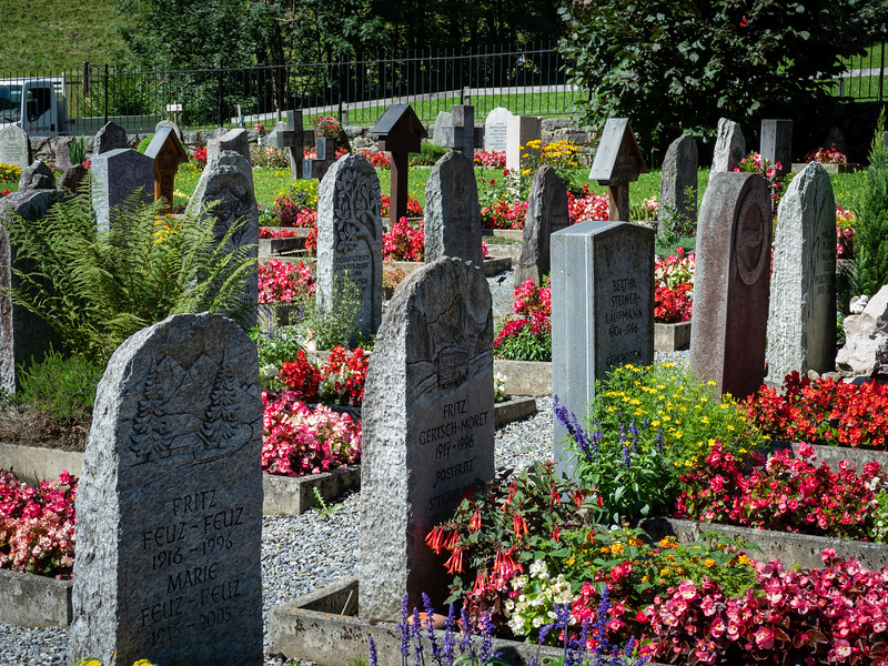Beautiful grave yards are common.