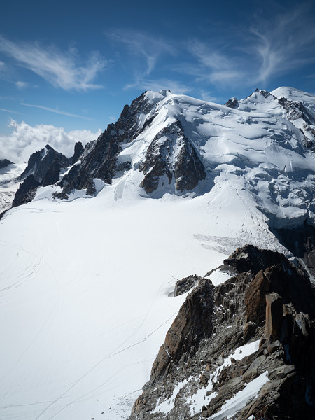 Looking out from Mount Blanc near Chamonix