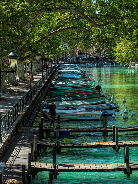 Boats on canal in Annecy