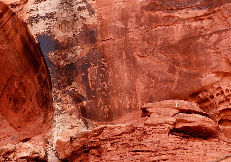 Petroglyphs, near Moab, Utah