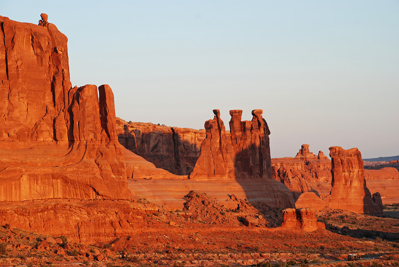The Three Gossips, Courthouse Towers, Arches Nat. Park